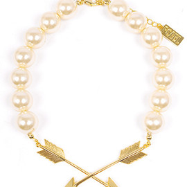 PEARL - 【PEARL】ARROW PEARL NECKLACE/Gold×Pearl
