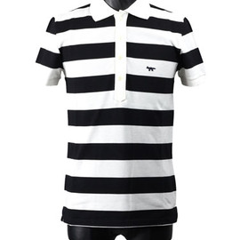 MAISON KITSUNE - Wide Border Polo-shirt