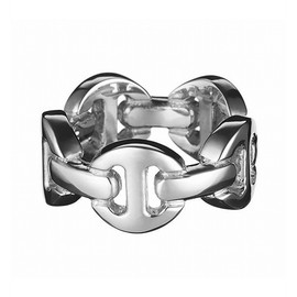 HOORSENBUHS - Sterling Silver Classic Dame Tri-Link Ring