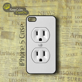 iPhone 5 Case, Electric Outlet iPhone Case Hard Fitted iPhone 5 Case, iPhone 5 Hard Case