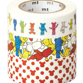 MEDICOM TOY - BE@RBRICK masking tape ACTION/CROWD/POLCADOT