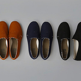 STUSSY Livin' GENERAL STORE - GS Elastic Slip-On Shoes by MOON STAR