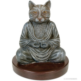 Accoutrements - Cat Buddha Statue
