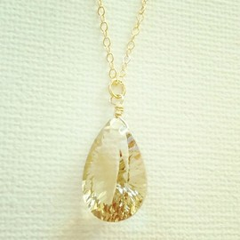 PEACE SHORE - lemon quartz pendant(01)