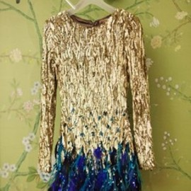 Matthew Williamson - sequin & ostrich feather dress