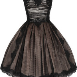 DOLCE&GABBANA - Dolce & Gabbana | Strapless lace and tulle dress