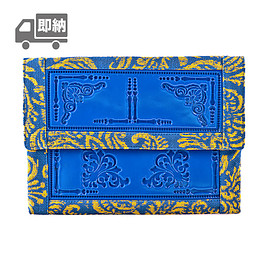 Medusa Brand - envelope clutch/blue-yellow