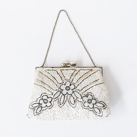 vintage 1920s French art deco beaded purse