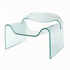 Fiam - Ghost chair clear glass by Cini Boeri, Tomu Katayanagi