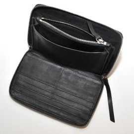 ANN DEMEULEMEESTER - Large Leather Wallet Element Black [2012FW]
