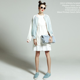 [2013 s/s] Sailor Drop Waist Dress(white)
