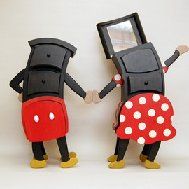 Straight Line Designs, JUDSON BEAUMONT  - Mickey and Minnie Cabinets