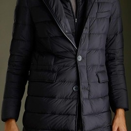 HERNO - Herno - Horizontal quilted black down jacket