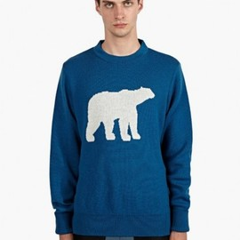 CHRISTOPHER RAEBURN - Men's Blue Polar Bear Knit Jumper