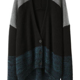 Alexander Wang - Marled Color Block Cardigan