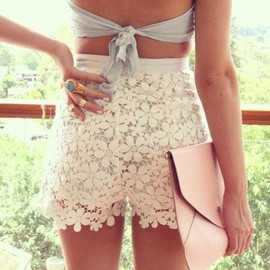 Lacy summer shorts