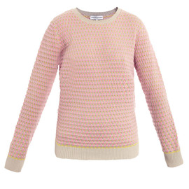 JONATHAN SAUNDERS - Oval pink knit sweater