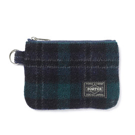 "HEAD PORTER - ""LESSON"" ZIP WALLET GREEN"