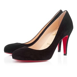 christianlouboutin - RON RON SUEDE 085 mm, Suede, BLACK