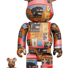 MEDICOM TOY - BE@RBRICK Andy Warhol × JEAN-MICHEL BASQUIAT #2 100% & 400%