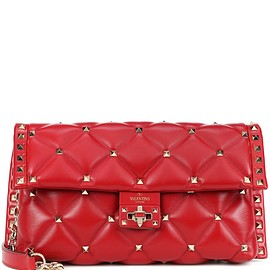 VALENTINO - Valentino Garavani Candystud leather shoulder bag