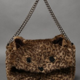 Candy stripper - WICKED CAT LEOPARD 2WAY CLUTCH BAG