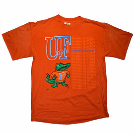 VINTAGE - Vintage 80s 1980s University of Florida Gators Shirt Made in USA Mens Sportswear Size L Large