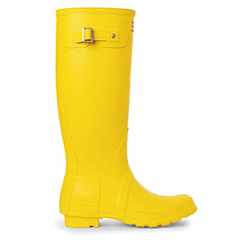 Hunter - HUNTER Selfridges yellow wellies