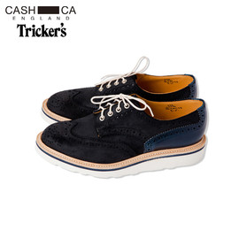 CASH CA x Tricker's Full Brogue Derby Boots