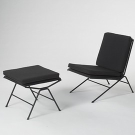 ALLAN GOULD - lounge chair and ottoman