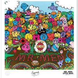 Roger & Adam Hargreaves - Sgt Pepper-style Mr Men 40th anniversary Print