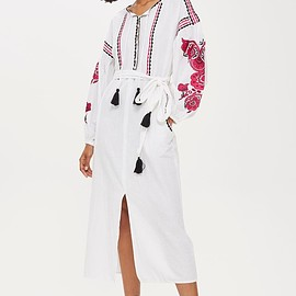 Topshop - Pink Embroidery Tunic