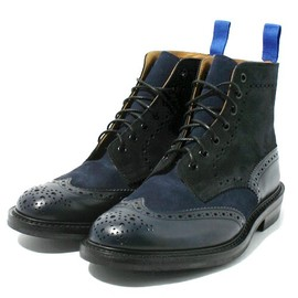 Espresso Burnished Stow Brogue Boot - Dainite