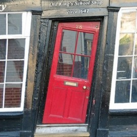 Canterbury, England - RED: BLACK: Pld King's School Shop