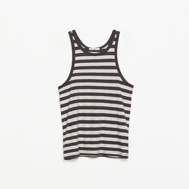 ZARA - ORGANIC COTTON TANK TOP in white grey