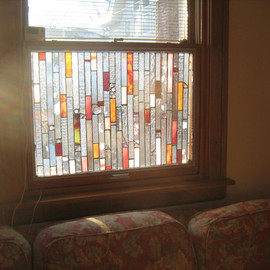 stanfordglassshop - GLASS CURTAINS stained glass panel curtains     no more peeping toms