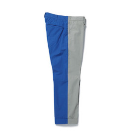 SOPHNET. - 2 TONE ANKLE CUT PANT/gray×blue
