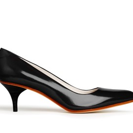 Acne - Poe Black Kitten Heel Pointy Pump
