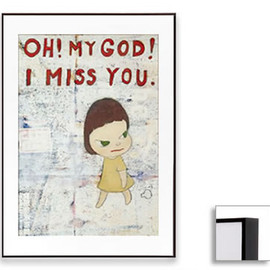 Yoshitomo Nara - Oh! My God! I Miss You! (Dark Brown Frame)