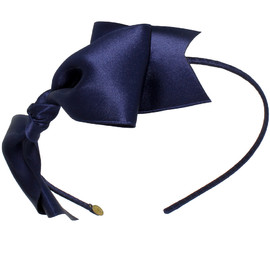 Jennifer Ouellette - Hairband, Ribbon Tie in Navy, STSK02