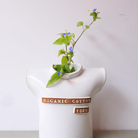"BROWN by 2-tacs  - vase""Organic cotton 100%"" オーガニックコットン100%"