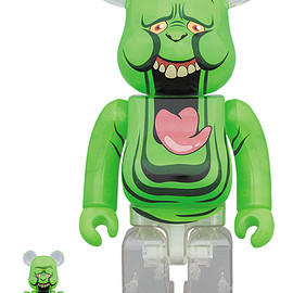 MEDICOM TOY - BE@RBRICK SLIMER(GREEN GHOST) 100% & 400%