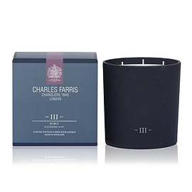 Charles Farris - Rubus 3 Wick Scented Candle | Blackberry & Bay
