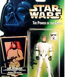 kenner - STAR WARS Luke Skywalker in Stormtrooper Disguise with Imperial Issure Blaster Green Card