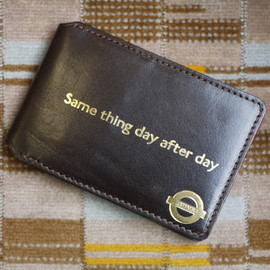 British Remains - Leather travelcard wallet sample