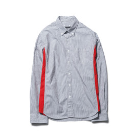 SOPHNET. - SIDE COLOR PANEL STRIPE B.D SHIRT(2013-2014 A/W)