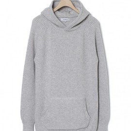nonnative - DWELLER HOODED SWEATER – CASHMERE MIX WAFFLE