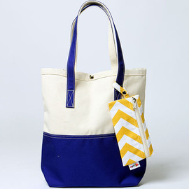 NEW GARDEN TOTE 22OZ DUCK BRIDLE LEATHER(アメリカ製 ニューガーデントートバッグ) NAVY