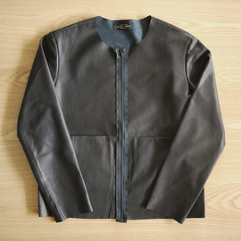 UNUSED - Cow Leather Collarless Jacket