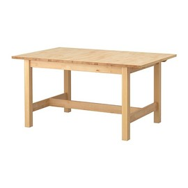 IKEA - NORDEN Dining table IKEA Extendable dining table with 1 extra leaf seats 4-6; makes it possible to adjust the table size according to need.